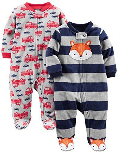 b56b51cf4 Simple Joys by Carter s Boys  2-Pack Fleece Footed Sleep and Play ...