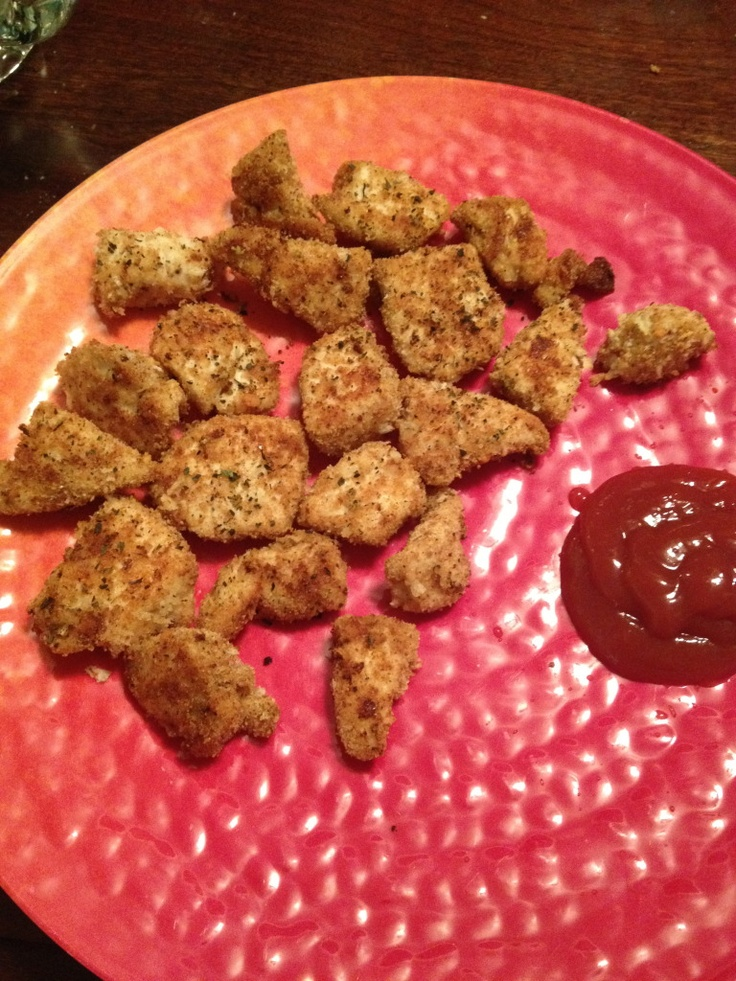... like this: baked chicken nuggets , baked chicken and chicken nuggets