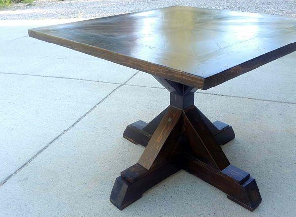 20 Surprising Square Wooden Pedestal Table Bases Home Design Lover Pedestal Dining Table Pedestal Table Diy Diy Dining Table