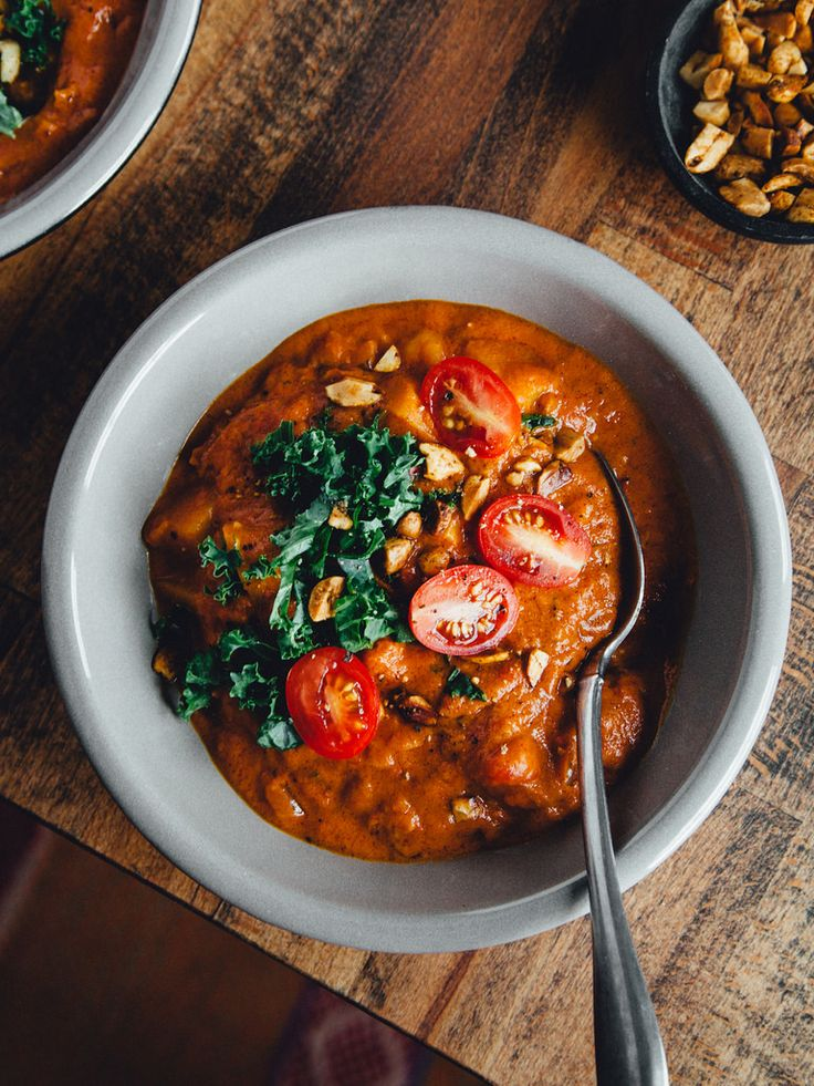 Spicy Peanut Stew With Butternut Squash Chickpeas Food