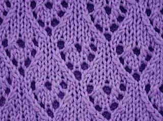 Knitting Galore: Saturday Stitch- Lacy Hearts