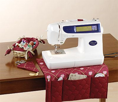 Sewing Machine Caddy, basket and pouch/holder for scissors http://www.sewing.org/html/sewing_room_accessories.html (Found via Granddivasews pin here: http://pinterest.com/pin/270145677618807511/)