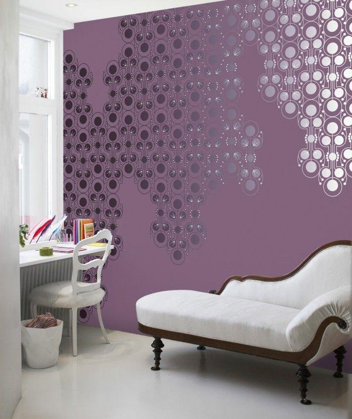 Die Besten 25+ Lila Interieur Ideen Auf Pinterest Buntes   Dekoration Lila  Grun Wohnzimmer