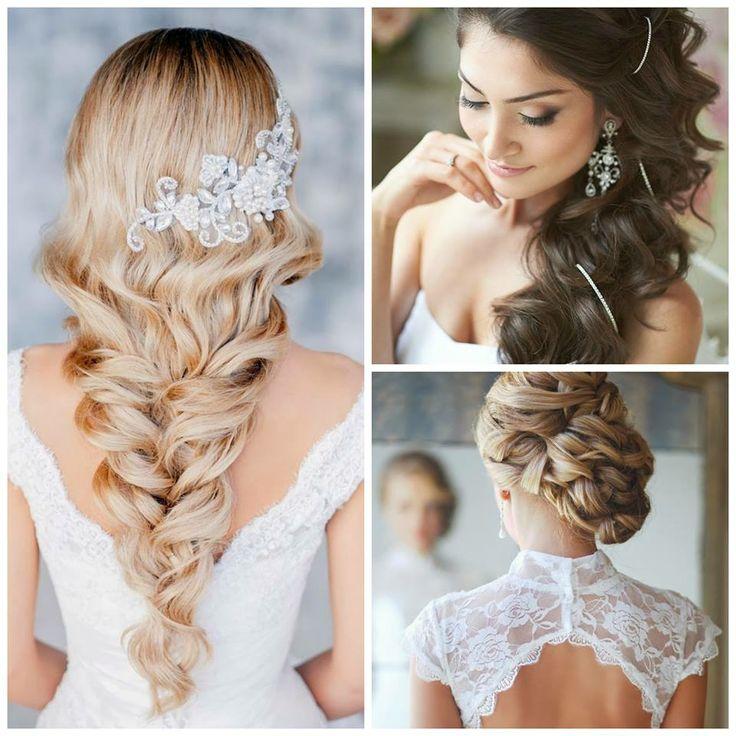 love these ideas of wedding hair do for long hair! =)
