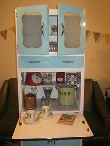 Retro 50s kitchen cabinet, vintage, larder, cupboard, pantry 60s, dresser, blue   eBay