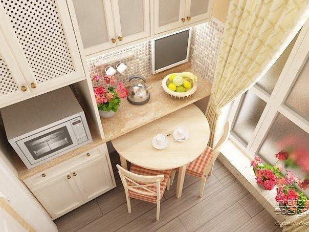 Четыре варианта обустройства действительно маленьких кухонь   ВСЁ ДЛЯ ДОМА