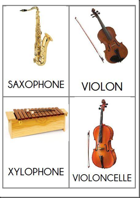 imagier instruments de musique : 1.2.3 dans ma classe