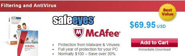 Save 30% Discount InternetSafety Safe Eyes & McAfee AntiVirus Plus 2015 Coupon and Promo Codes   Annually Subscription Price: $69.95, Save $30.00, 30% Discount  InternetSafety Safe Eyes & McAfee AntiVirus Plus 2015 Coupon and Promo Codes. Apply the coupon code at your checkout! Renew or Upgrade can apply this coupon code. It is your option to click the above link, after that the page will automatically turn to the right site where you can find the right product an
