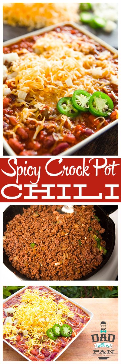 Spicy chili with ground beef and jalapenos, and a spicy chili seasoning from scratch! Slow cooked to perfection!