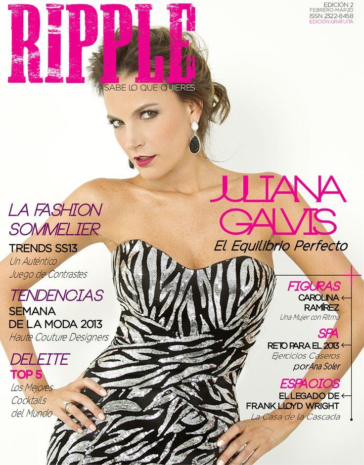 """Edición 2 con la actriz Juliana Galvis en portada y el artículo """"El Equilibrio Perfecto""""."""