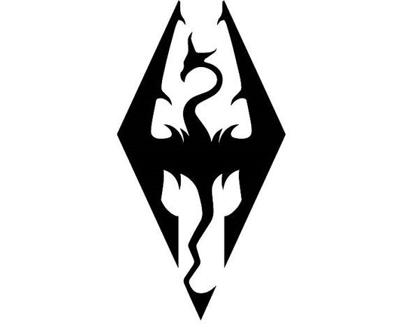 Skyrim Imperial Symbol Vinyl Decal Multiple Colors By