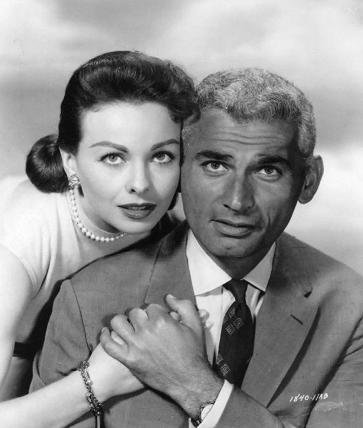 Jeff Chandler and Jeanne Crain in The Tattered Dress (1957)