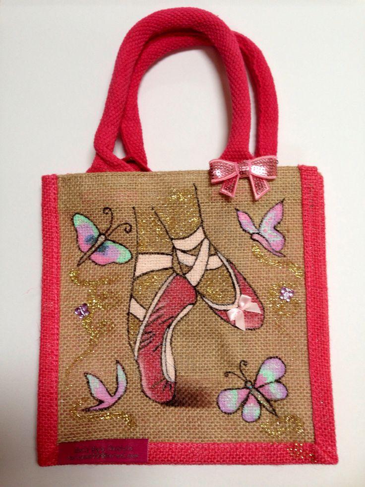 Emily-em Original Bag Designs.....Dance until you fly! Hand Painted Emily-em Original Bag Designs