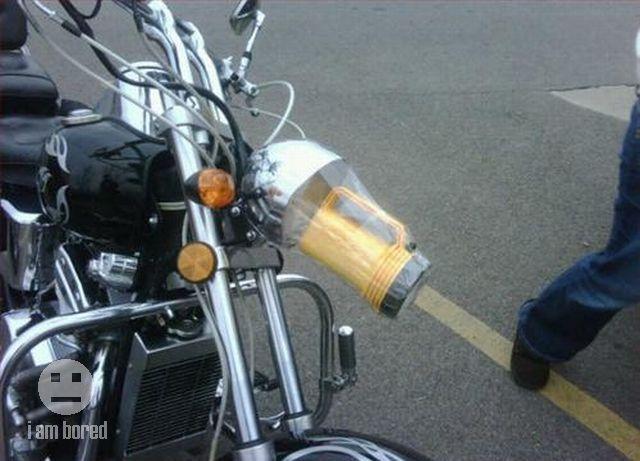 Broken motorcycle headlight? No problem!