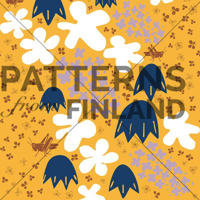Juhannus by Maria Tolvanen  #patternsfromagency #patternsfromfinland #pattern #patterndesign #surfacedesign #mariatolvanen