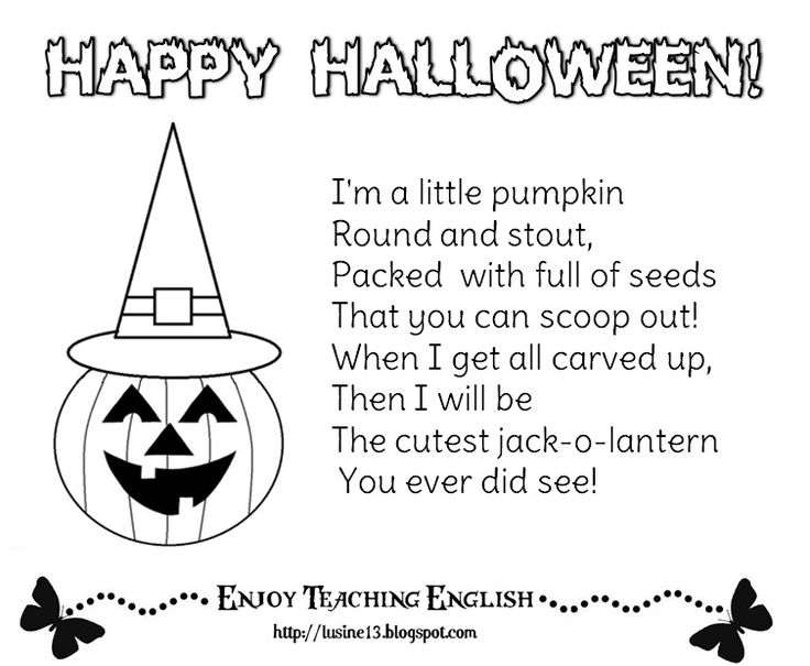 25+ best ideas about Halloween poems for kids on Pinterest