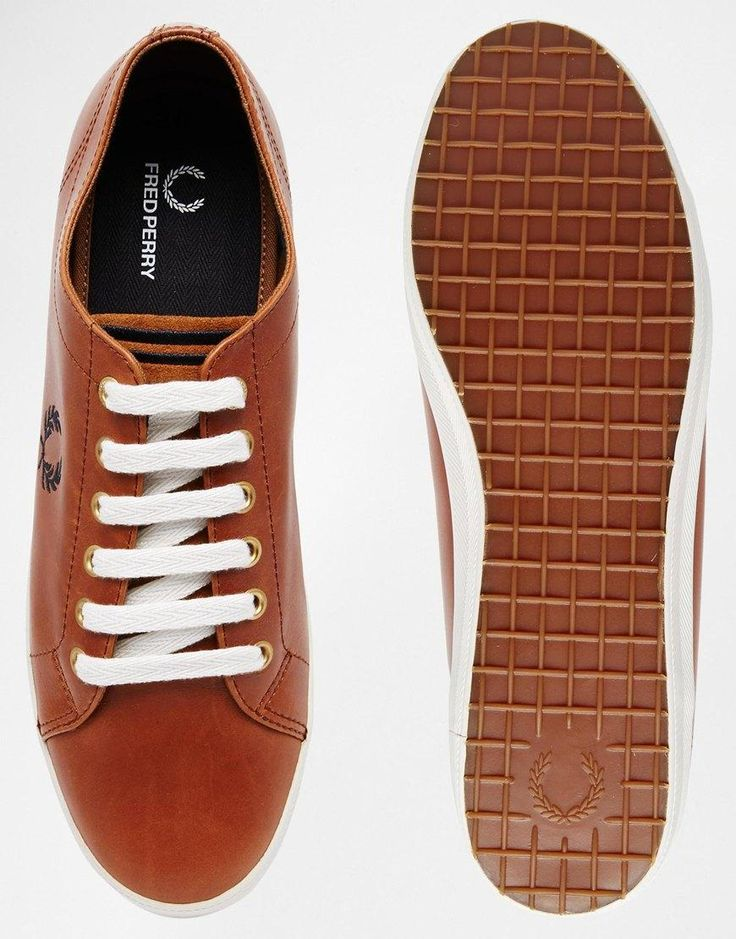 Fred Perry | Fred Perry Kingston Leather Plimsolls at ASOS