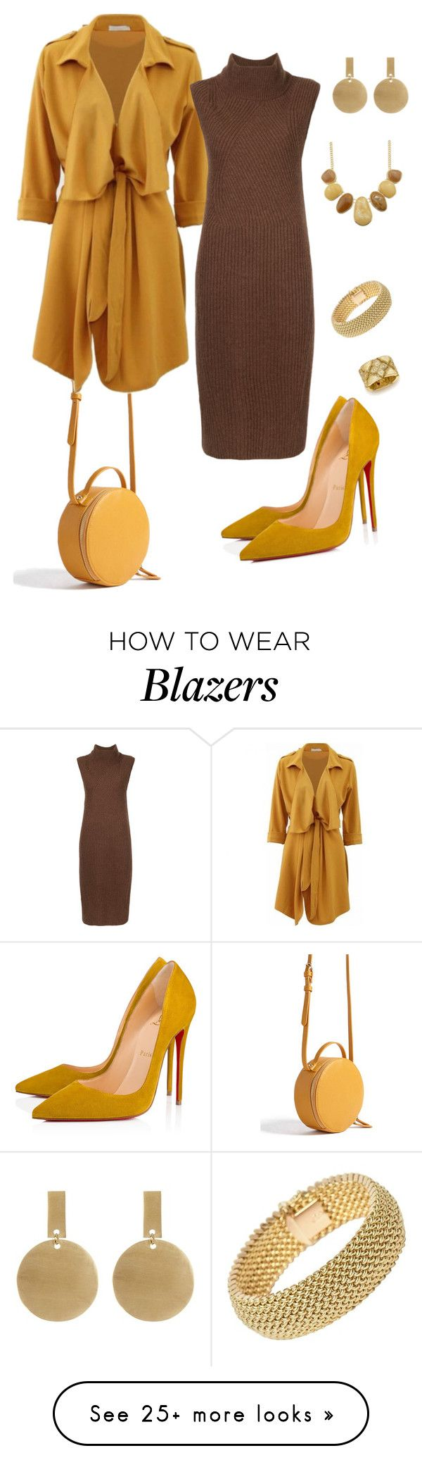 """""""Butterscotch & Chocolate"""" by sommer-reign on Polyvore featuring Forever 21, Anrealage, Christian Louboutin, SOKO and Roberto Coin"""