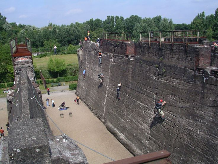 Another view of the climbing area at Landschaftspark Duisburg-Nord. Germany.
