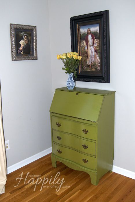 Secretary Desk Makeover Ordinary Hily Ever After