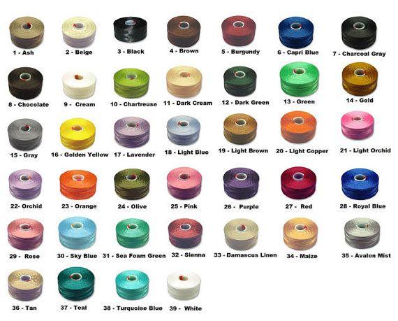 C-LON Size AA Nylon Monocord Thread. Bobbin of 75 by TorallyBeads