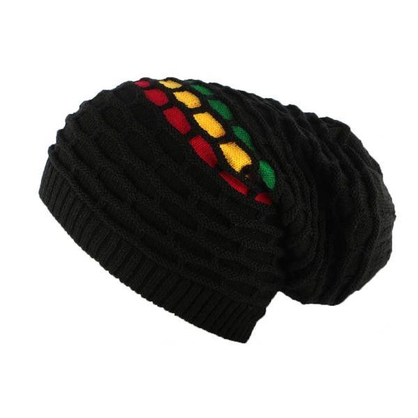 Bonnet Rasta Noir Kingston par Léon Montane #bonnet #rasta #bonnetrasta #mode #style #hiver2017 #fashion #jamaique