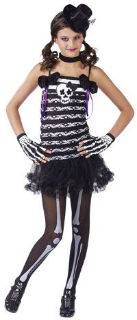 Skeleton Sweetie Girls Costume - Skeleton Costumes -skeletonoutfits.com