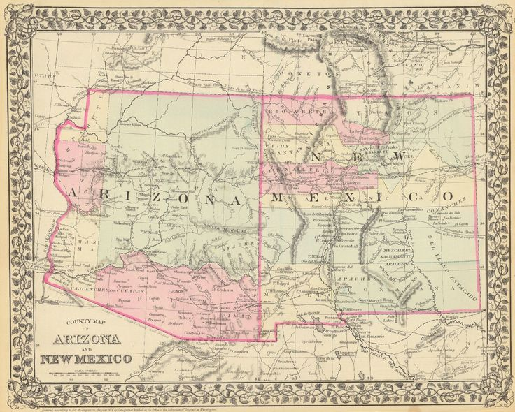 20 Best Arizona Images On Pinterest Maps And Bobs: Map Of Arizona Forts At Usa Maps