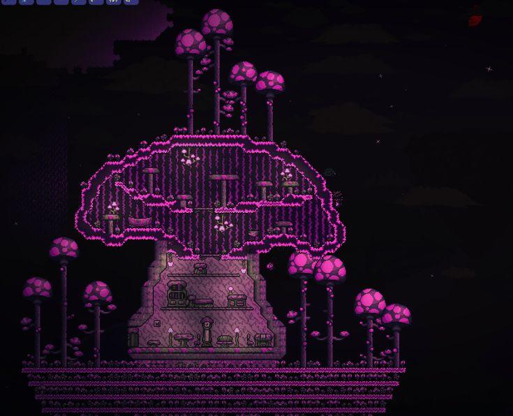 how to get vicious mushroom terraria