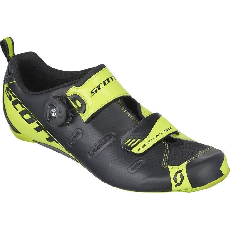 Scott Sports 2016 Men's Tri Carbon Triathlon Cycling Shoe - 242135-4755 (black/neon yellow - 45.0)