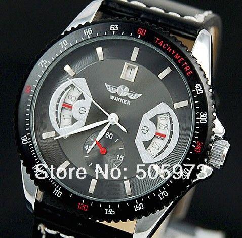Мужские часы мужские лица автоматического стали наручные часы мужская механические часы подарок 10 шт./лот