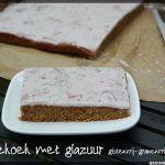 Glutenvrije en lactosevrije anijskoek/oranjekoek met glazuur, zonder geraffineerde suikers.  Gezoet met kokosbloesemsuiker.