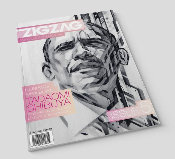 Zig zag Magazine spread by Wade Veldsman, via Behance