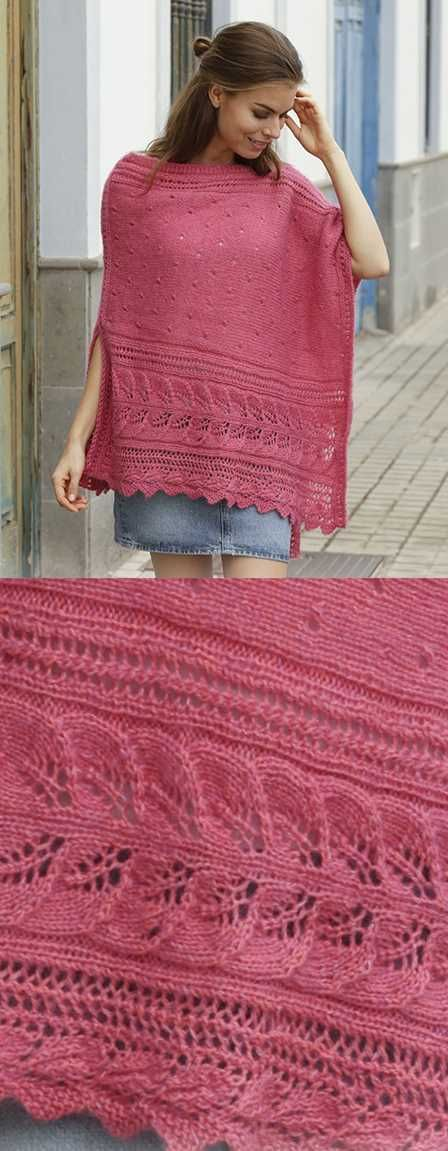 Scarborough Fair Free Lace Poncho Knitting Pattern Download