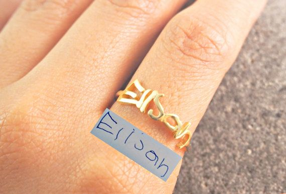 SALE Personalized Handwriting Ring-Memorial by AshleeArtis on Etsy