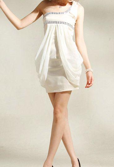 Velvet White Club Dress