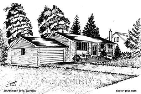 Architectural Sketch: 20 Atkinson Blvd, Dundas