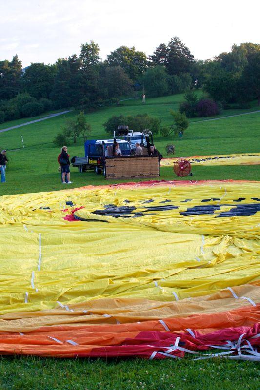 Příprava balónu, Brno