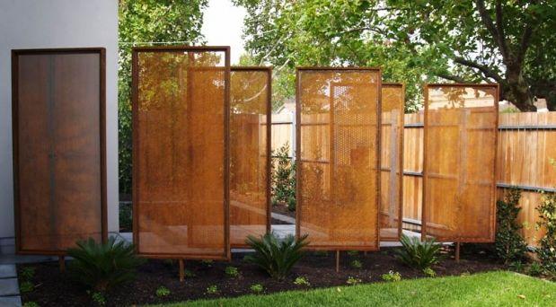 Decorative Garden Screens - Metal Screens Image via:http://pinterest.com/source/plrdesign.com.au