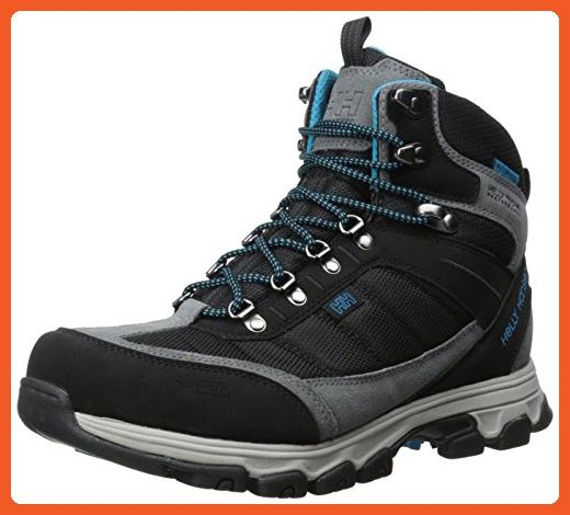 Helly Hansen Women's Rapide Mid Cordura Waterproof Hiking Boot,Black/Charcoal/Frozen Blue/New Light Grey,9.5 M US - Boots for women (*Amazon Partner-Link)