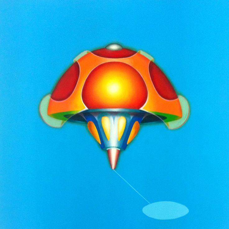 Mushroom, 2011, olio e acrilico su tela, 60x60 cm - Ignazio Mazzeo #art #painting #colours #nature #ignaziomazzeo