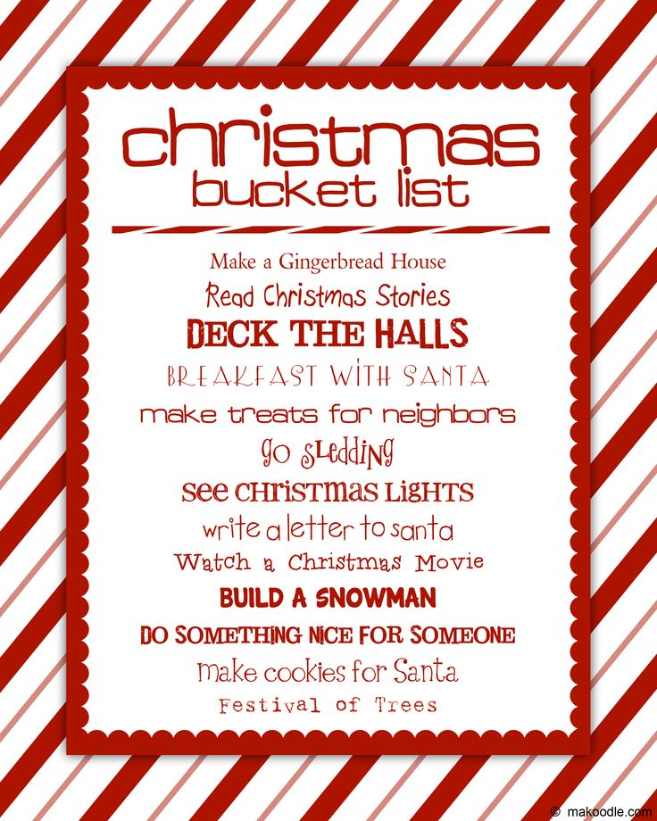 107 best Christmas images on Pinterest Change to, Chairs and - christmas to do list template