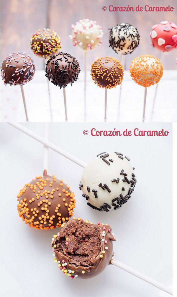 Bizcobolas o cake-pops / https://www.corazondecaramelo.es/