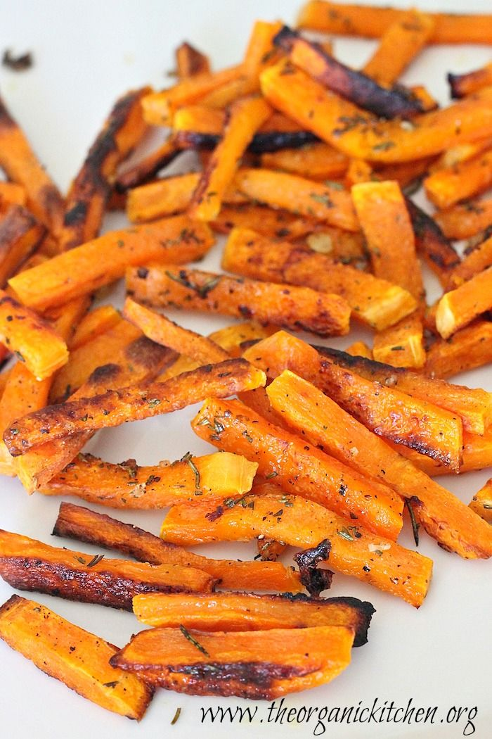 "Rosemary Butternut Squash ""Fries"" #whole30 #paleo"