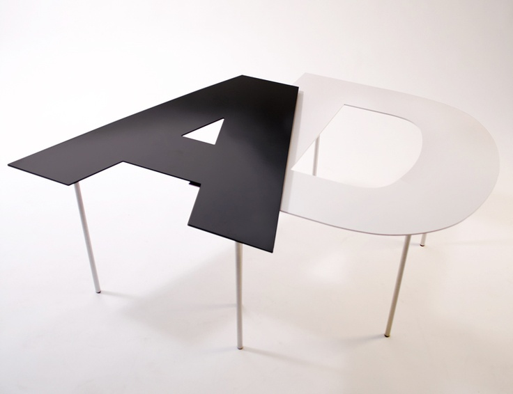 "Custom ""Fontables"" by Alessandro and Andrea. Choose your own material and, of course, alphanumeric. $230.00: Design Inspiration, Font Tables, Fantastic Furniture, Canepa Og, Typography, Favorite Letters, Custom Fontables"