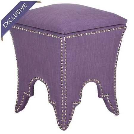 Deidra Storage Ottoman In Lavender #furniture #storage #stool #home #decor #