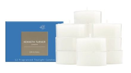 A Set Of 12 Hand Poured Scented Tealight Candles In Kenneth Turner Original Fragranced Wax