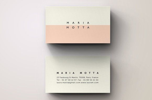 Pink Modern Business Card Template by Blank Studio on @creativemarket