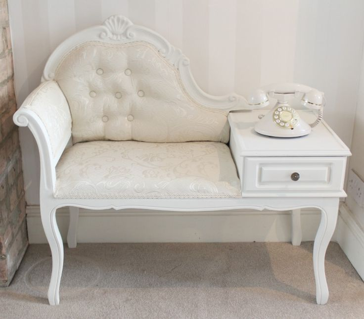 Shabby Chic Telephone Table Seat - Amy Antoinette - Beauty & Lifestyle Blog