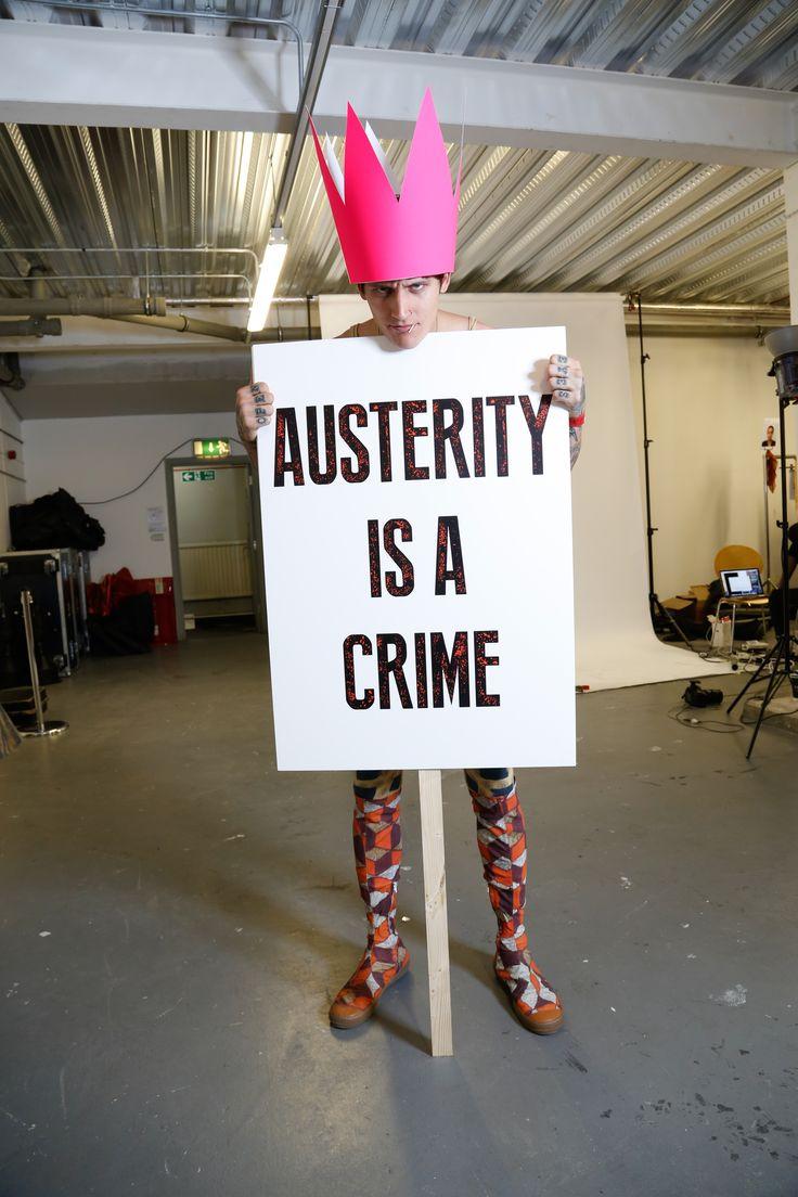 Backstage at Vivienne Westwood #SS16 Red Label: